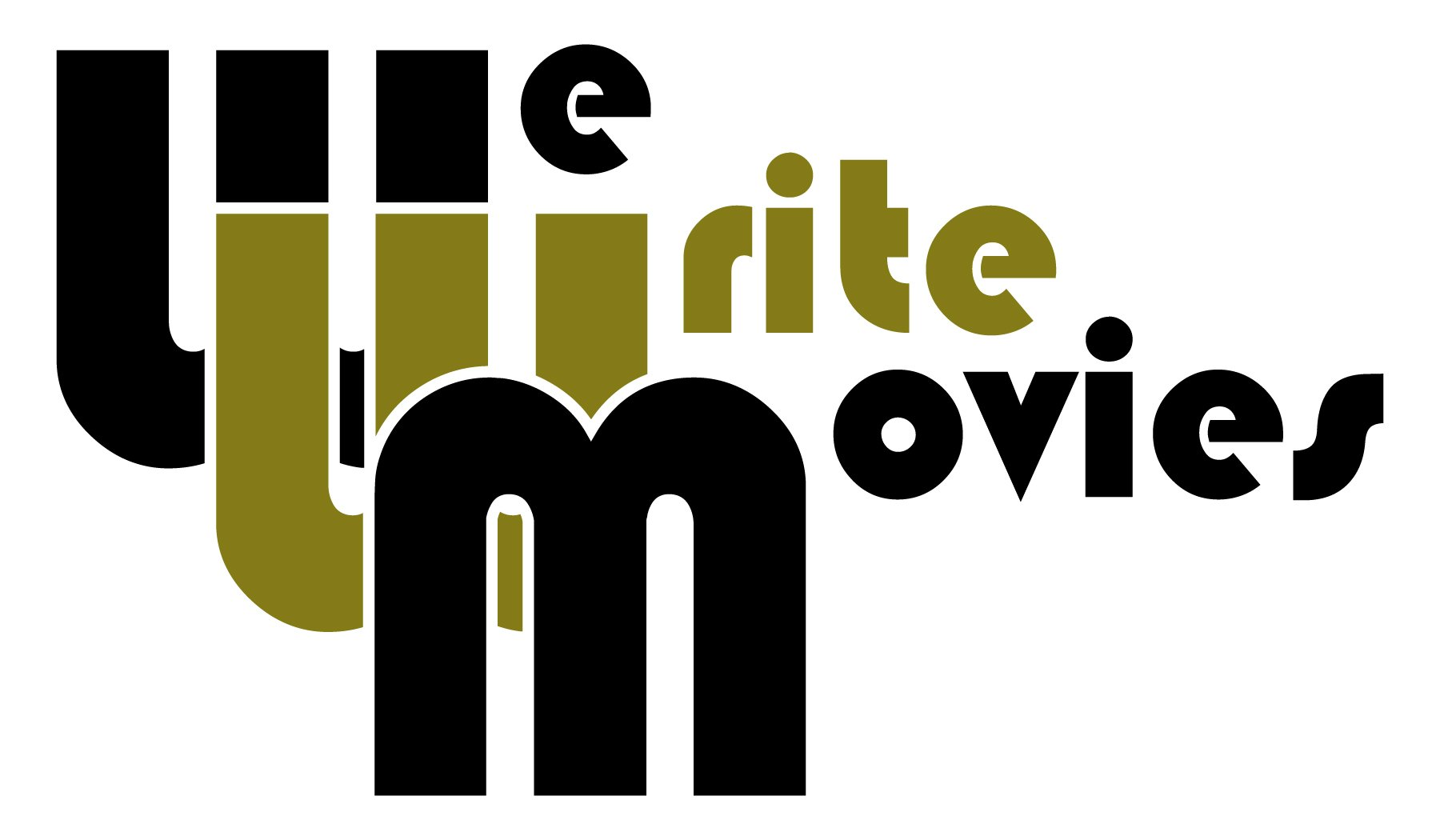 We Write Movies Logo Black Gold
