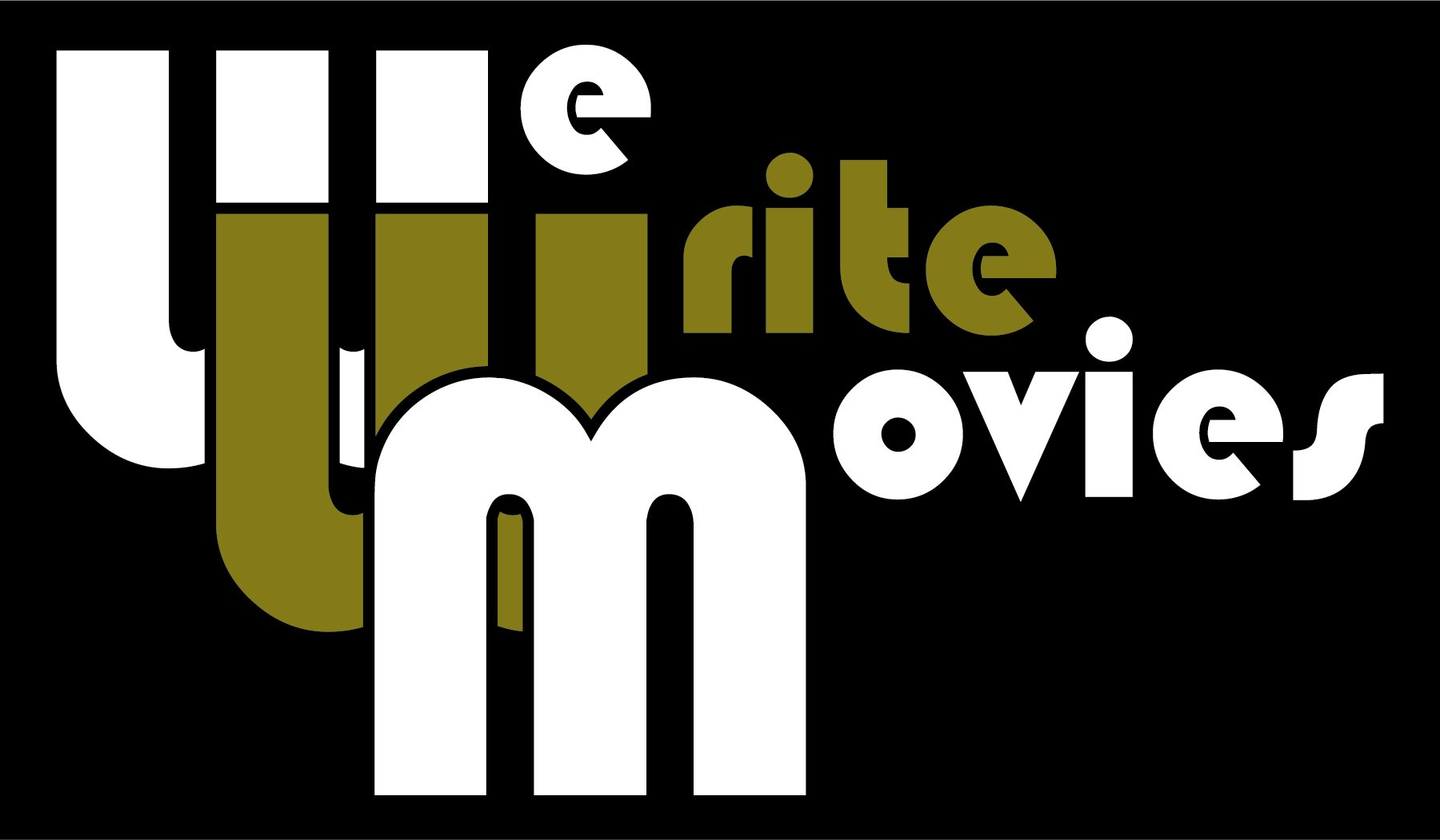 We Write Movies Logo White Gold