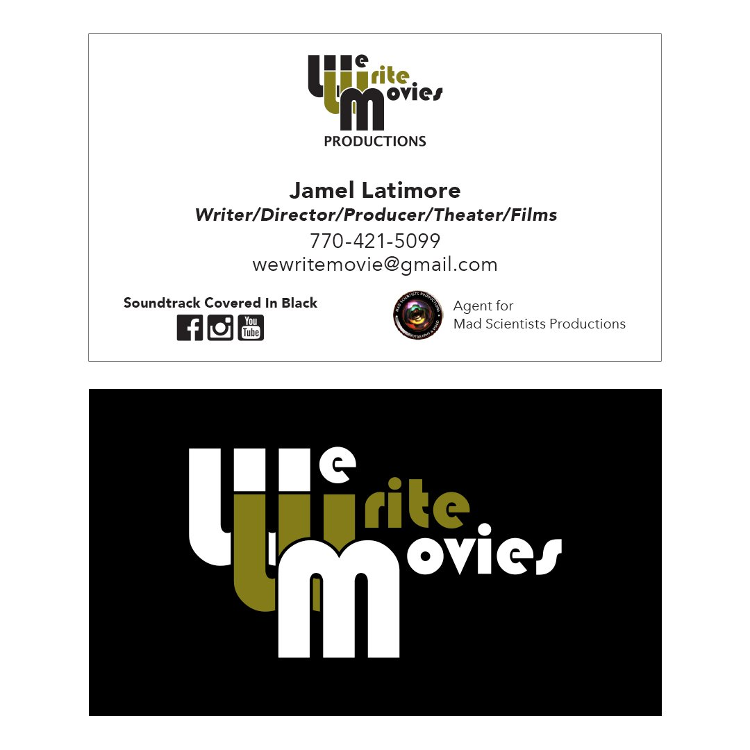 We Write Movies Business Card Design