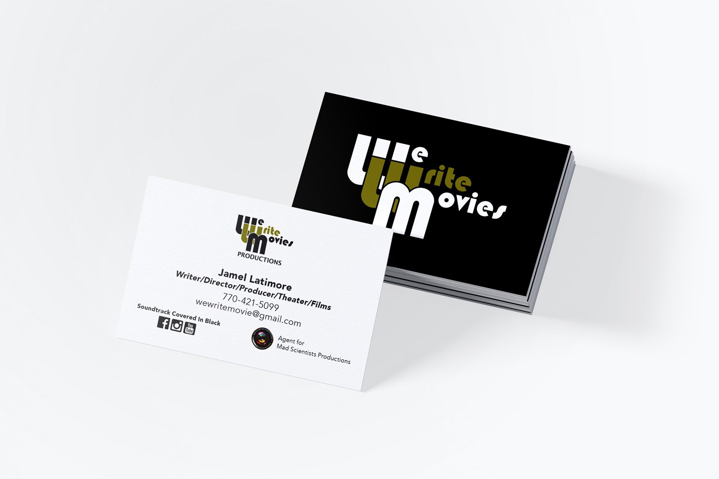 We Write Movies Business Cards