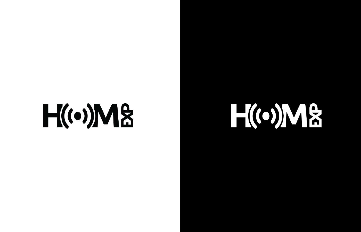 HOMexp Black & White Logo